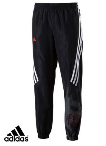 adidas Junior Boys F50 Woven Climalite Track Pants Black BNWT free deliv S22076